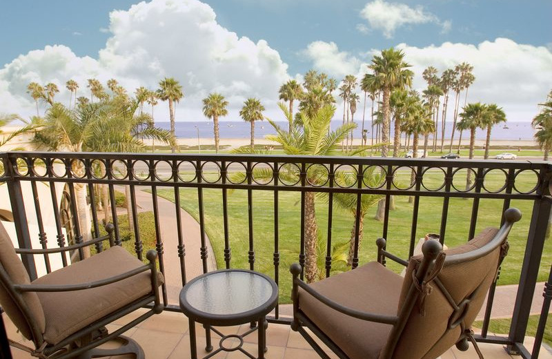 Private balcony at Fess Parker's Doubletree Resort.