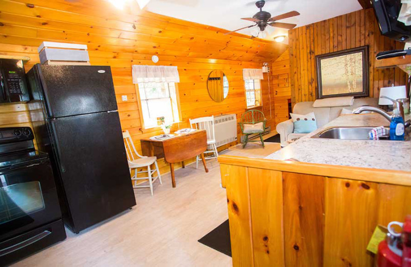 Kitchen at White Lake Lodges.
