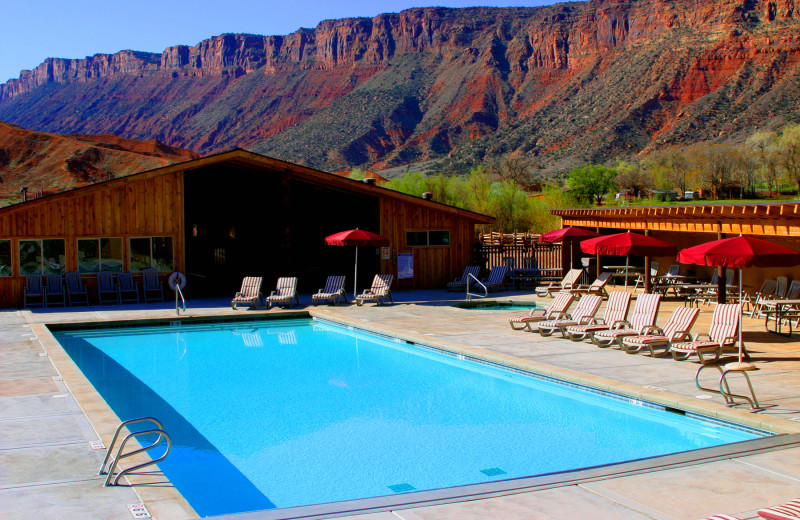 Outdoor pool at Red Cliffs Lodge.