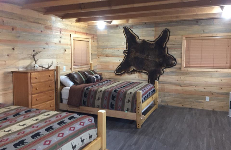 Guest room at Alaska's Big Salmon Lodge.