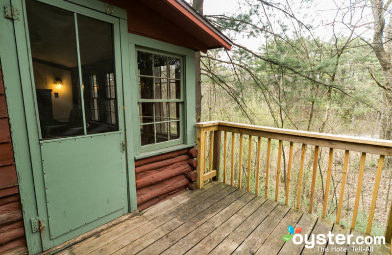 Cabin exterior at Birchcliff Resort.