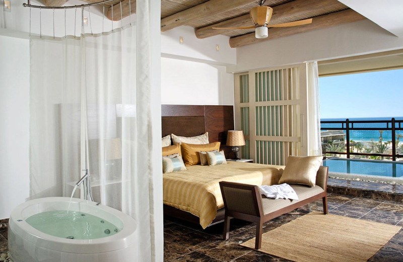 Guest room at The Grand Mayan.