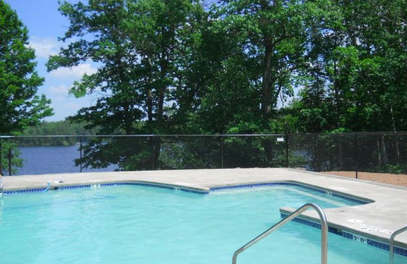 Outdoor pool at Lakewoods Resort.