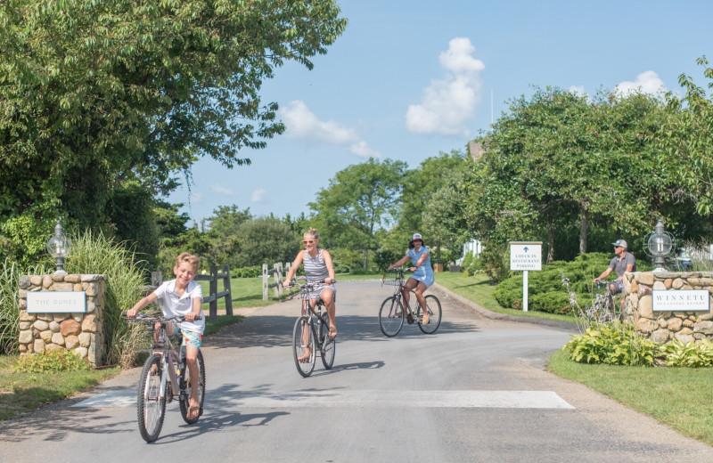 Biking at Winnetu Oceanside Resort.