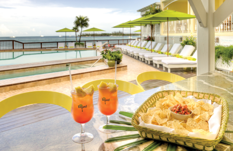 Enjoy a drink by the pool at Ocean Key Resort & Spa.