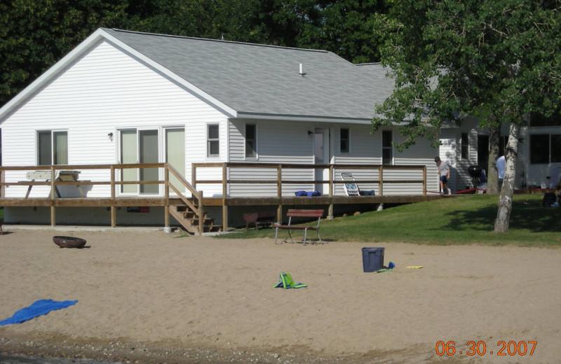 Cabin exterior at Eden Acres Resort.
