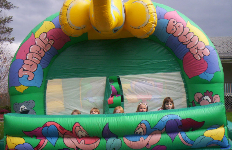 Bounce house at Acra Manor Resort.