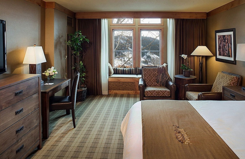 Guest room at Wyoming Inn of Jackson Hole.