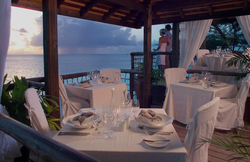 Dining at Cocobay Resort.
