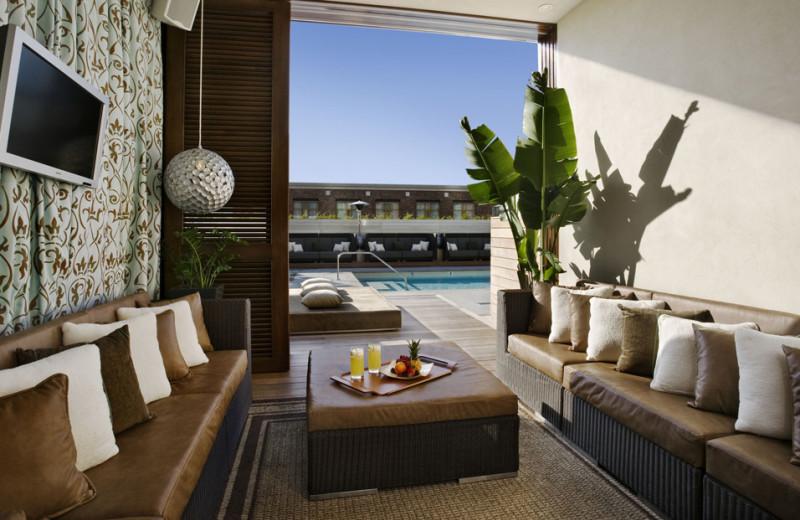 Cabana and pool at Hard Rock Hotel.