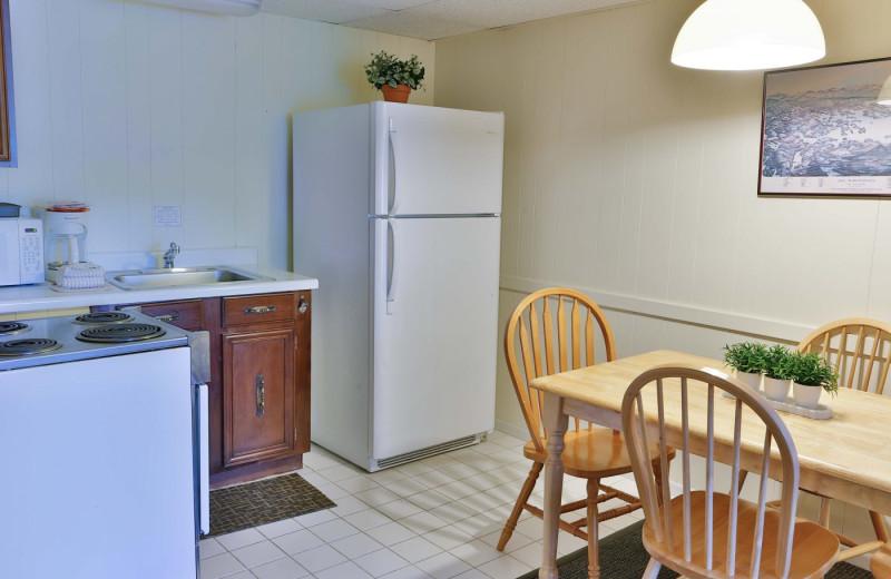 Guest kitchen at Naswa Resort.