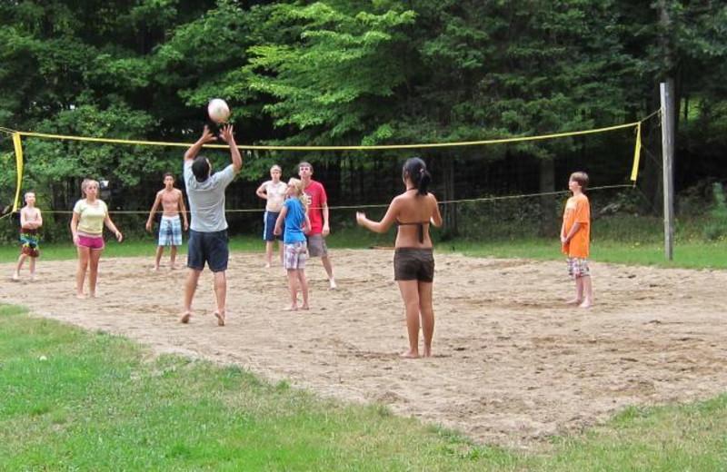 Beach volley ball at The Clyffe House.