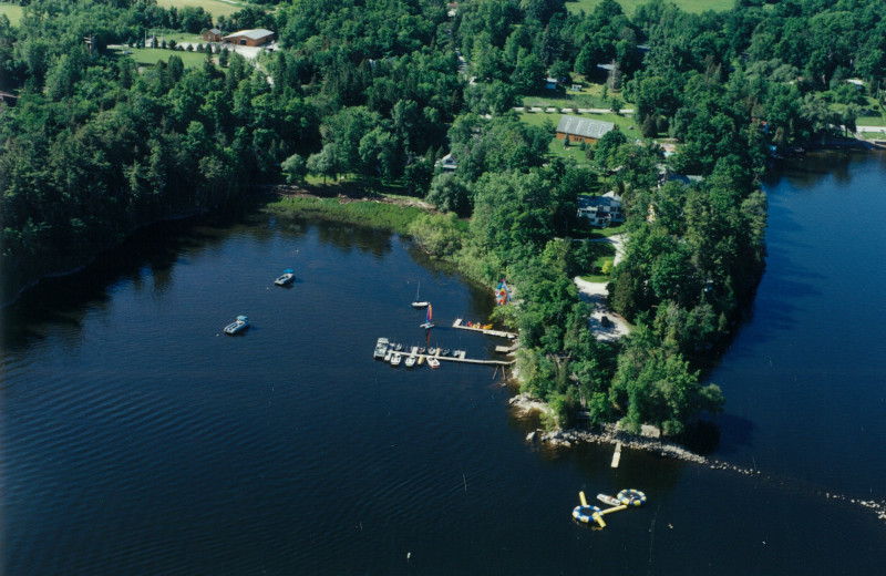 Aerial view of Tyler Place Family Resort.
