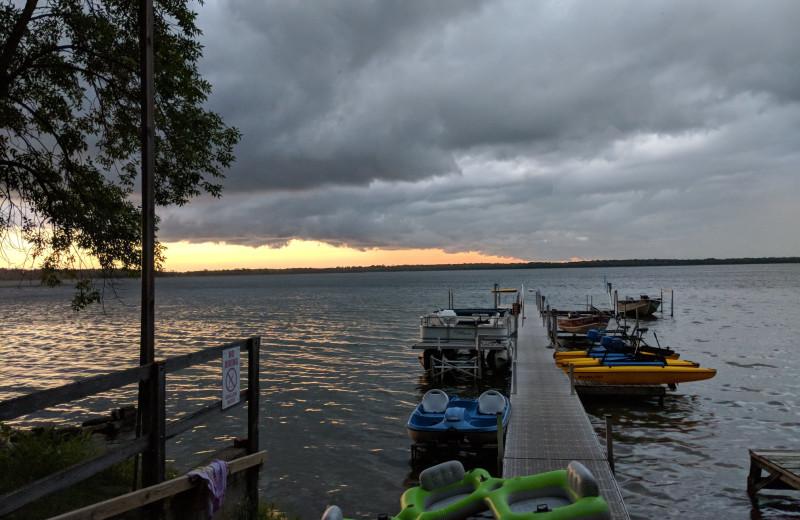 Lake view of Woodlawn Resort.
