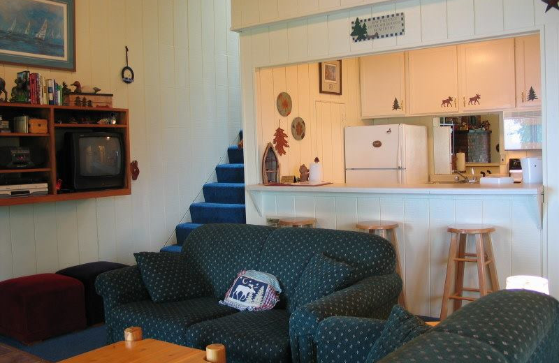 Vacation rental interior at Chateau LeVeaux.