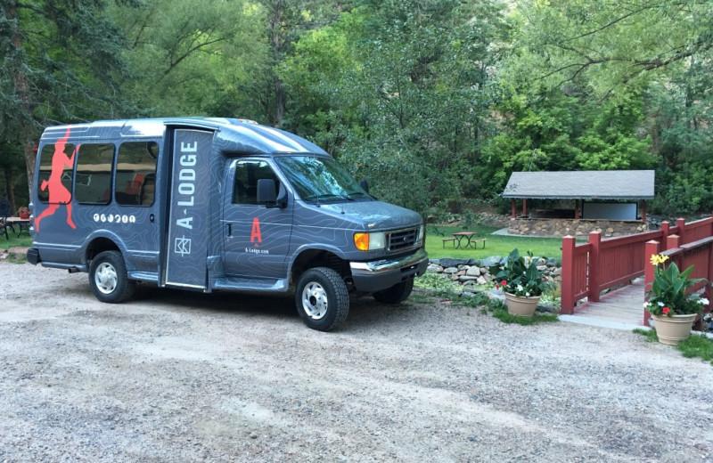Shuttle at Boulder Adventure Lodge.