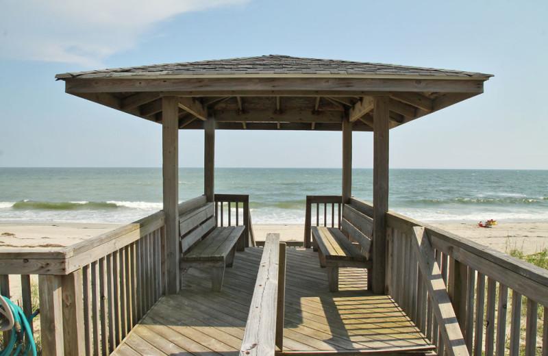 Rental dock at Oak Island Accomodations.