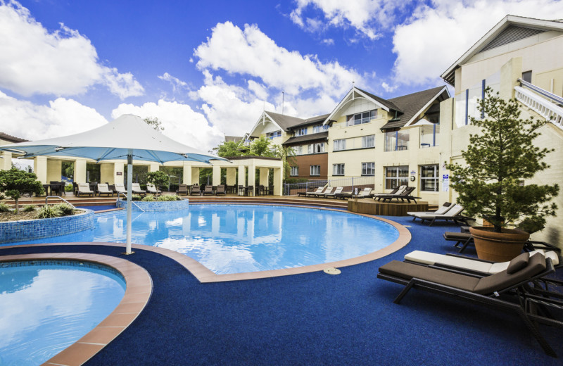 Outdoor pool at Fairmont Resort Blue Mountains.