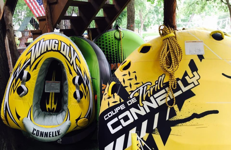 Water tubing at Log Country Cove.