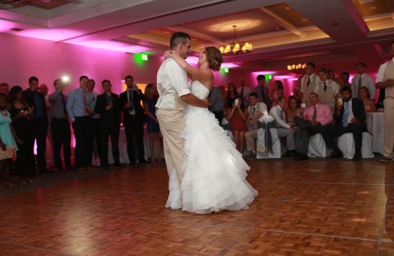 Wedding dance at The Ridge Hotel.