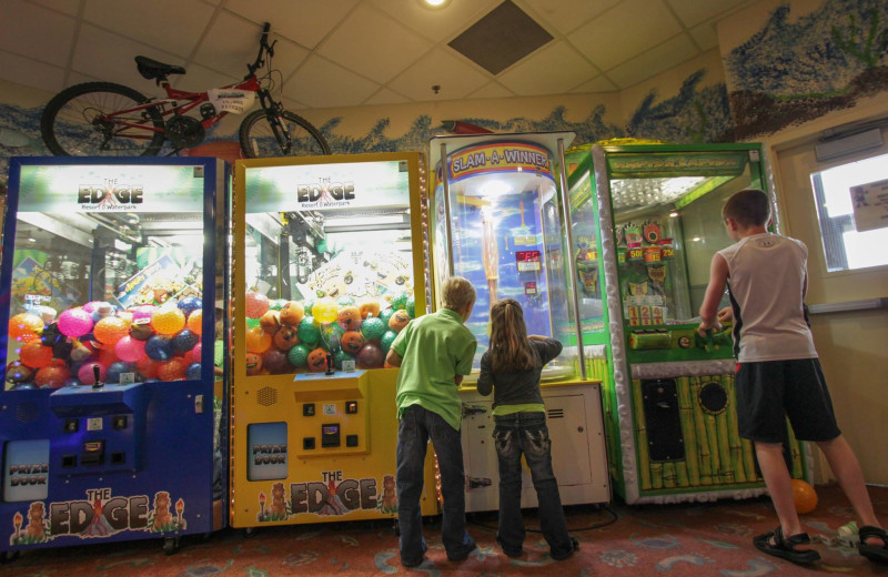Video arcade at EdgeWater Resort and Waterpark.
