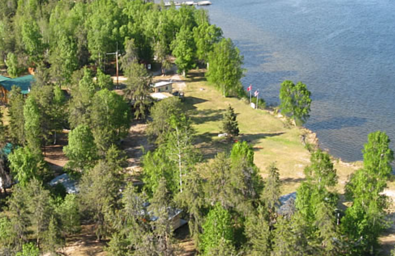 Aerial view of Camp Grayling.