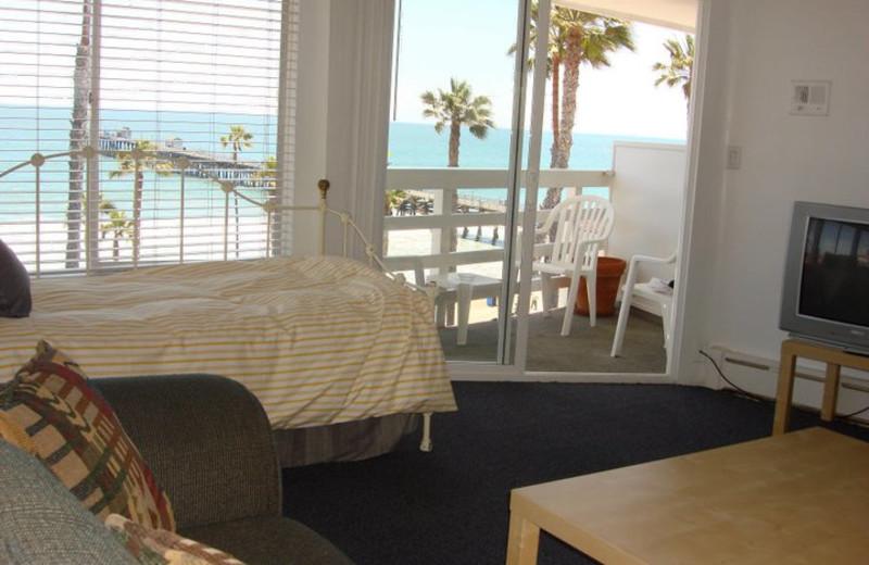 Guest room at Sea Horse Resort.