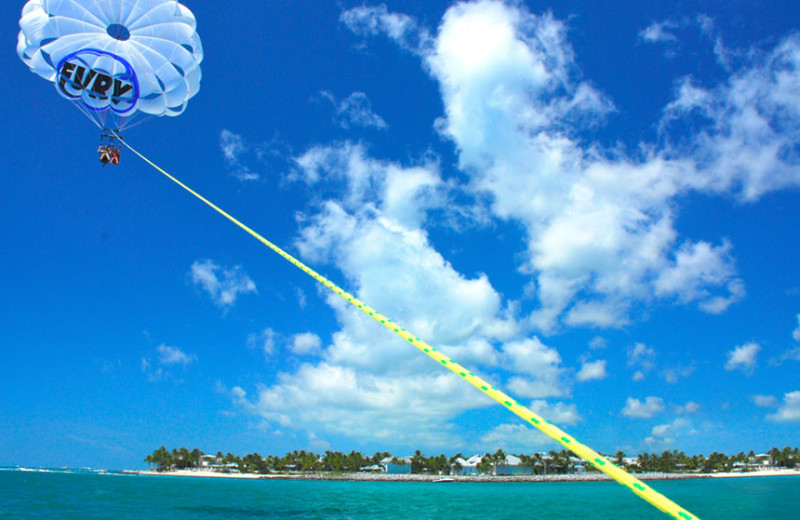 Parasailing at The Southernmost House.