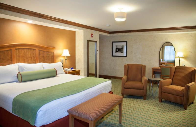 Guest room at Oglebay Resort and Conference Center.