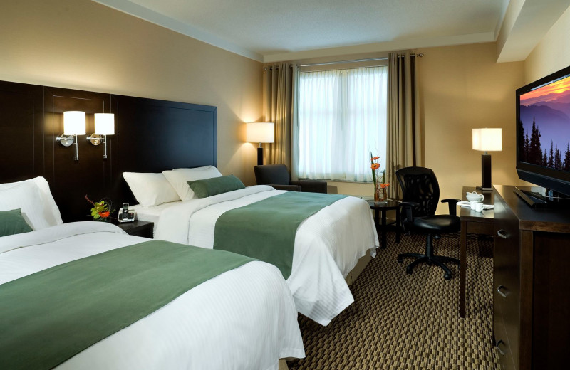 Guest room at Delta Guelph Hotel and Conference Centre.