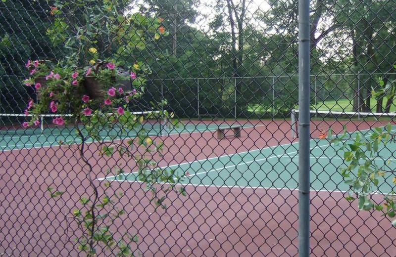 Tennis court at Heidel House Resort.