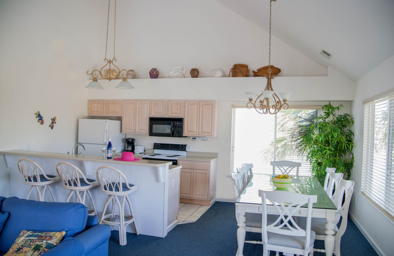 Rental kitchen at The Winds Resort Beach Club.