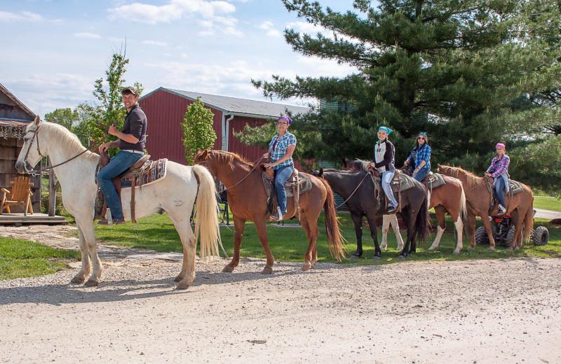 Horseback riding at Harpole's Heartland Lodge.