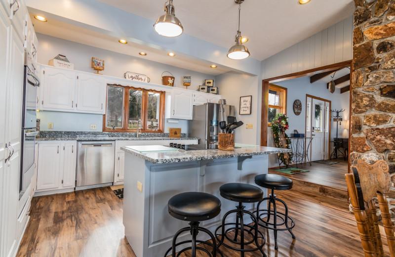 Rental kitchen at Amazing Branson Cabin Rentals - RentBranson.