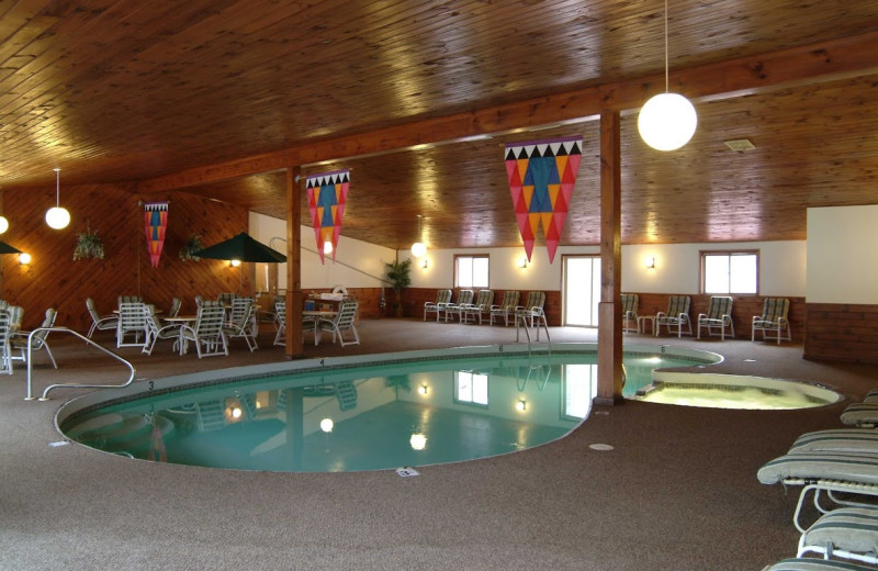 Indoor pool at Woodwards Resort.