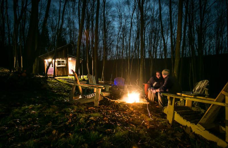 Campfires at Blue Moon Rising.