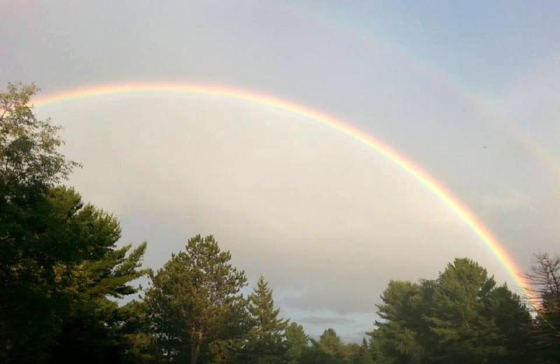 Rainbow over Rainbow Golf Club.