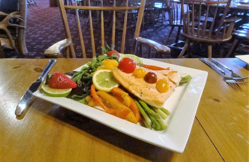 Dining at Garnet Hill Lodge.