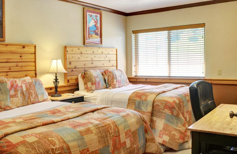 Guest room at Sunapee Lake Lodge.