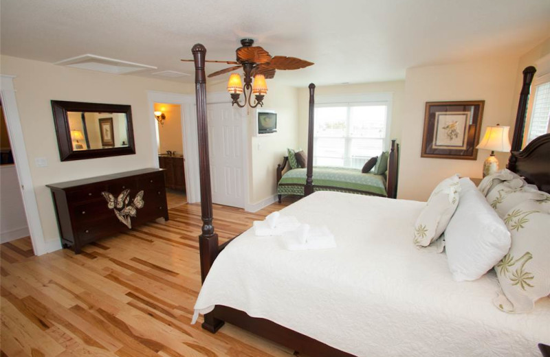 Rental bedroom at Sandbridge Realty.
