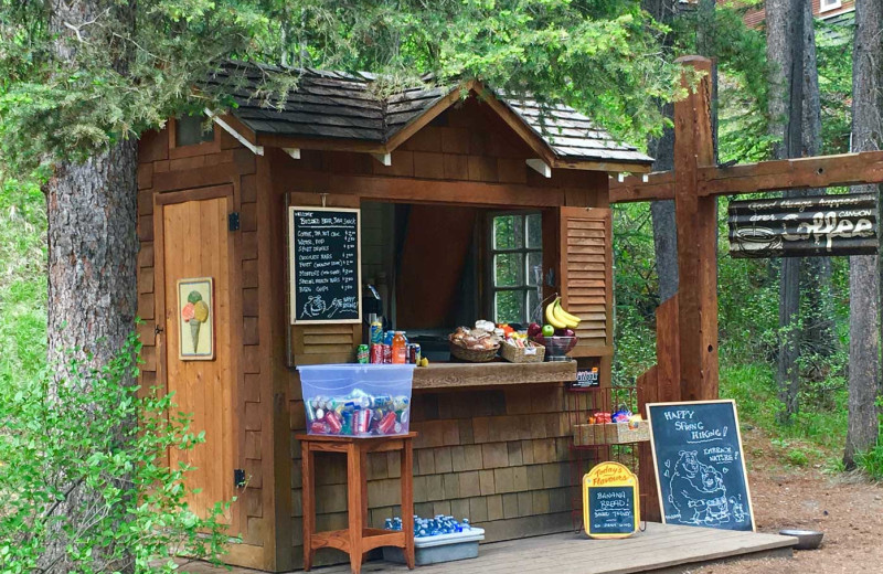 Snack shack at Johnston Canyon Lodge & Bungalows.