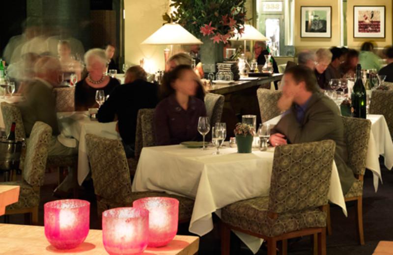 Dining at Hotel Healdsburg.