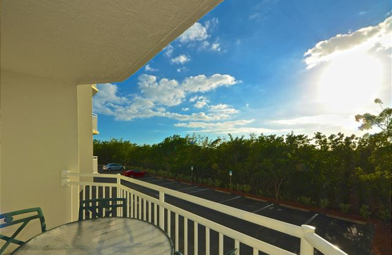 Rental balcony at Key West Vacation Rentals.