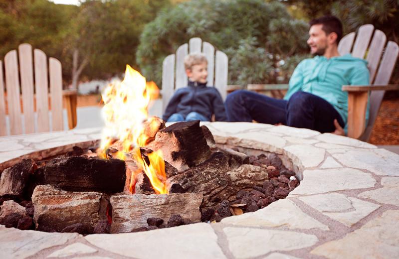 Bonfire at Roaring Brook Ranch Resort & Conference Center.
