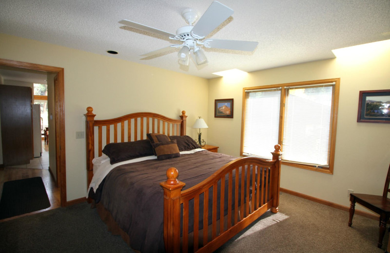 Guest bedroom at Woodlands On Fall River.