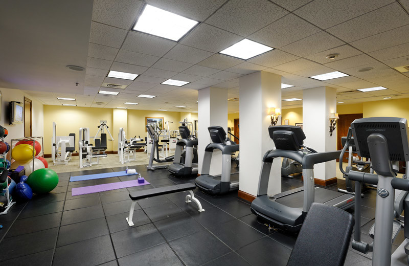 Rental fitness room at Frias Properties of Aspen.