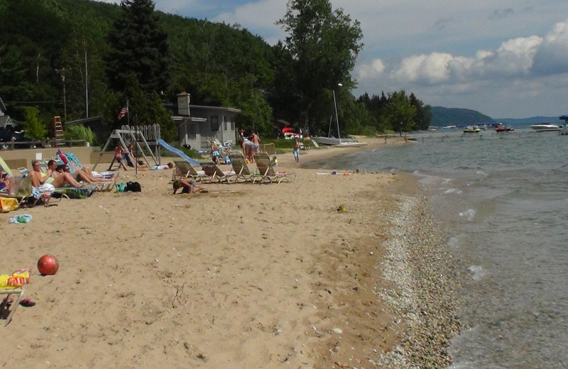 Beach view Chimney Corners Resort.