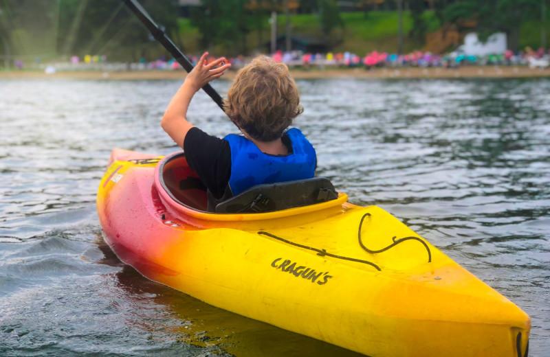Kayaking at Cragun's Resort and Hotel on Gull Lake.