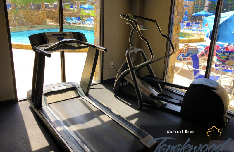 Fitness center at Tanglewood Resort and Conference Center.