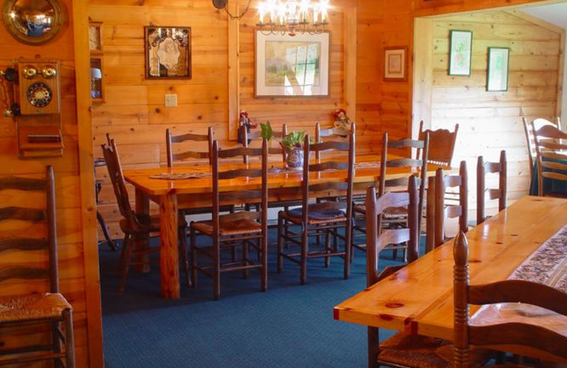 Dining room at Annie Mae Lodge.
